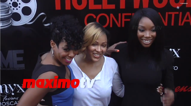 BRANDY NORWOOD, MEAGAN GOOD, TICHINA ARNOLD-  The Hollywood Confidential 2014