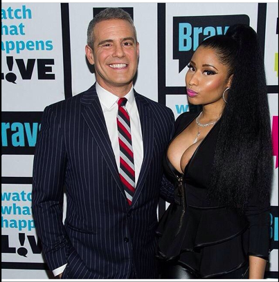 DID NICKI MINAJ HAVE ANOTHER WARDROBE MALFUCTION DURING WATCH WHAT HAPPENS  LIVE WITH ANDY COHEN-PHOTO RECAP