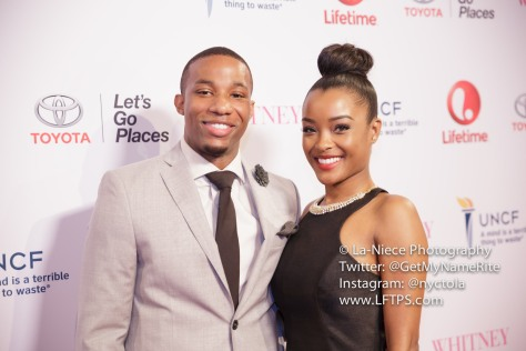 Arlen Escarpeta and Latoya Tonodeo