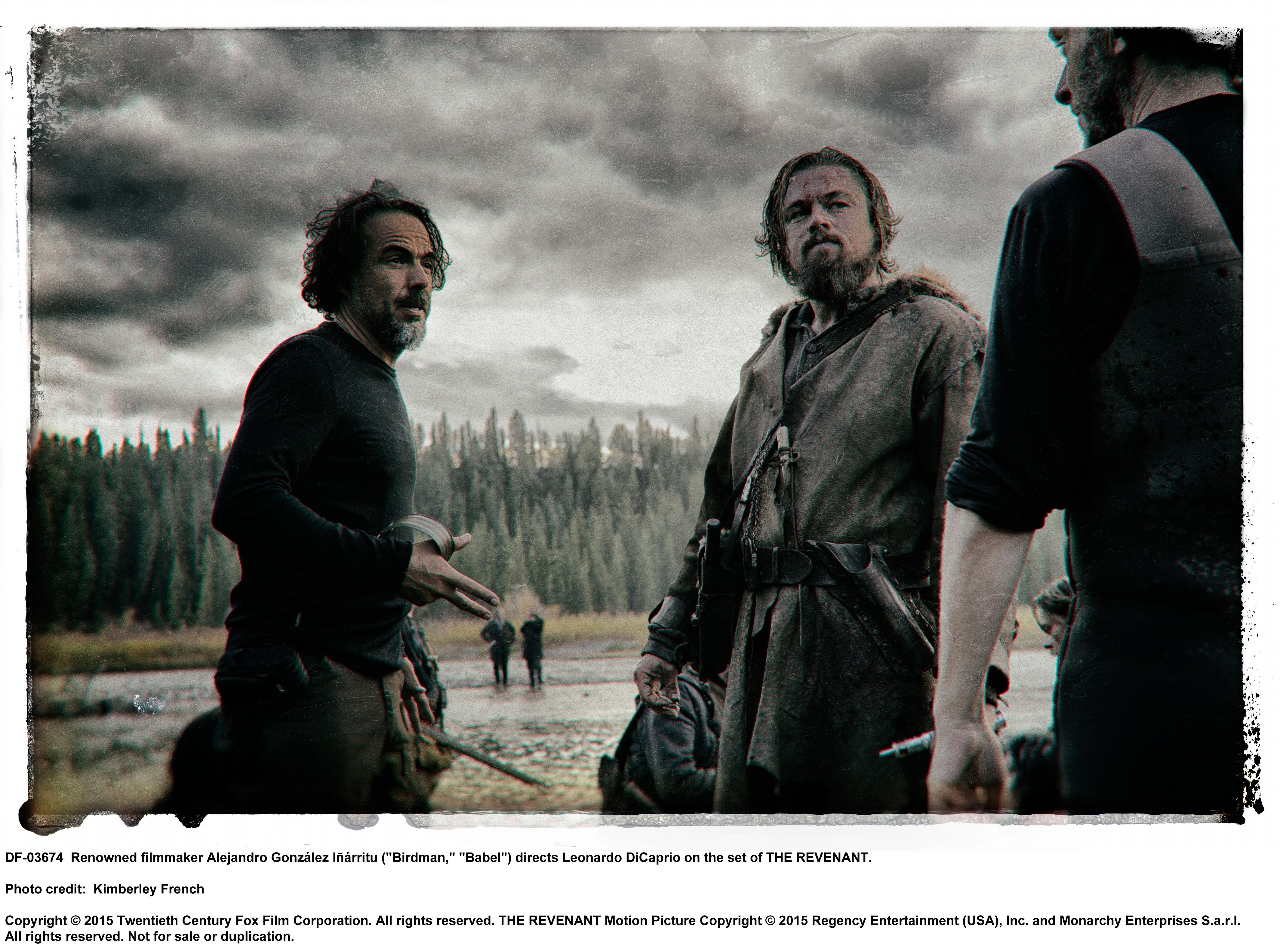 Alejandro González Iñárritu and Leonardo Dicaprio