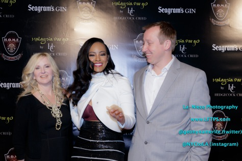 Lori Creed Raney (Hedgecock creed Owner), Malaysia Pargo and Chris Hedgecock (Hedgecock creed Owner)
