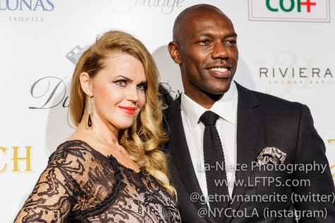 Startuch founder Evgenia Lorcy and Terrell Owens at the 1st Annual Startuch Charity Gala