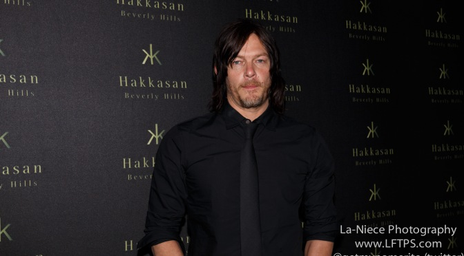 NORMAN REEDUS ARRIVES AT FLAUNT MAGAZINE PARTY (VIDEO)