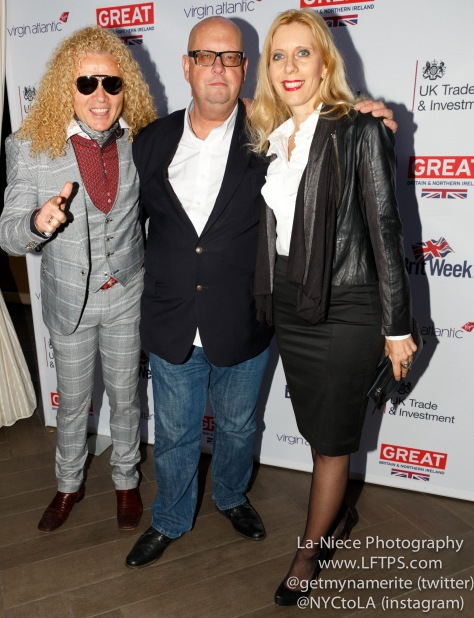 Steve Cook, Mike Tunnircliffe, Sandra Cook at Brit Week 2015