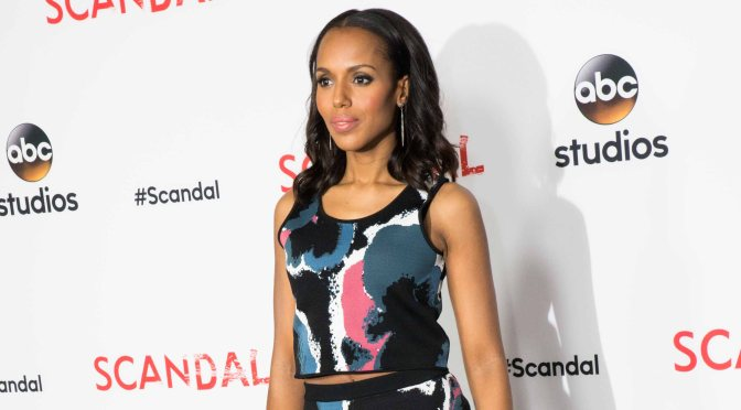 KERRY WASHINGTON LOOKING BEAUTIFUL AT ABC'S SCANDAL ATAS Event-CAST ARRIVALS (PHOTOS)