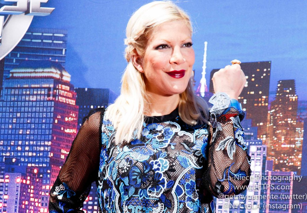 Tori Spelling at Marvel Universe Live 2015