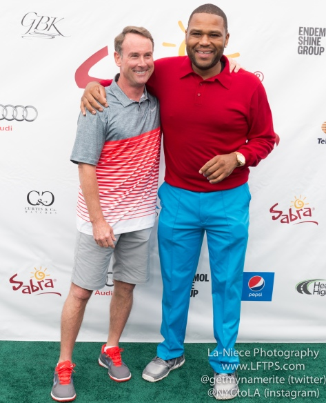 Michael G. Wilson and Anthony Anderson at the 8th Annual George Lopez Celebrity Golf Tournament