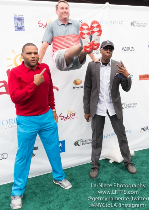 Anthony Anderson, Michael G. Wilson and Arsenio Hall at the 8th Annual George Lopez Celebrity Golf Tournament
