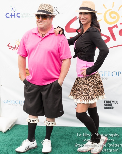 Gary Valentine and Debbe Dunning at the 8th Annual George Lopez Celebrity Golf Tournament