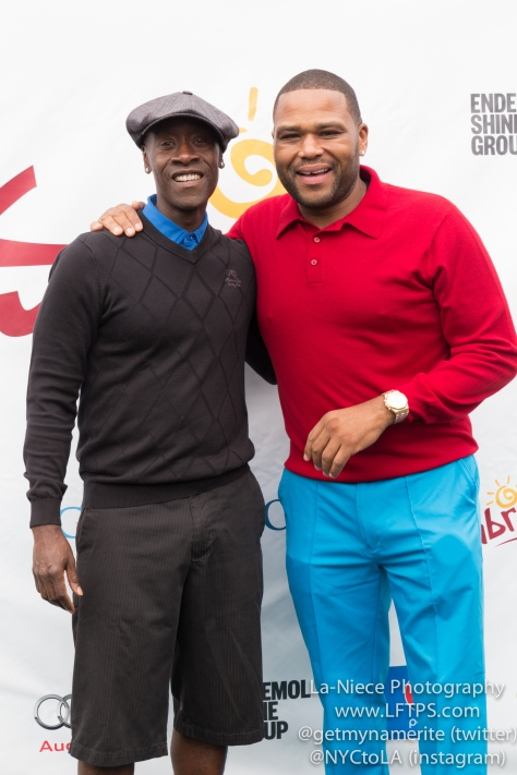 Don Cheadle and Anthony Anderson at the 8th Annual George Lopez Celebrity Golf Tournament