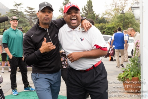 Dondre Whitfield and Roland Martin at the 8th Annual George Lopez Celebrity Golf Tournament
