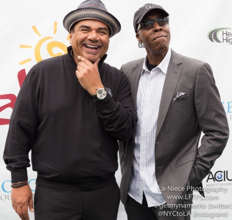 George Lopez and Arsenio Hall at the 8th Annual George Lopez Celebrity Golf Tournament