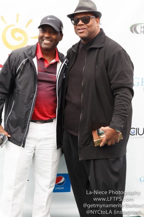 Johnny Gill and Jimmy Jam at the 8th Annual George Lopez Celebrity Golf Tournament