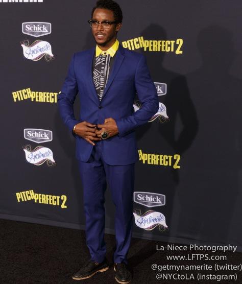 AJ Jones AT PITCH PERFECT 2 MOVIE PREMIERE- LOS ANGELES