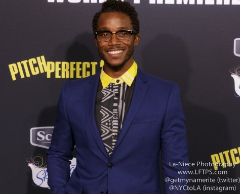 AJ Jones AT PITCH PERFECT 2 MOVIE PREMIERE- LOS ANGELES