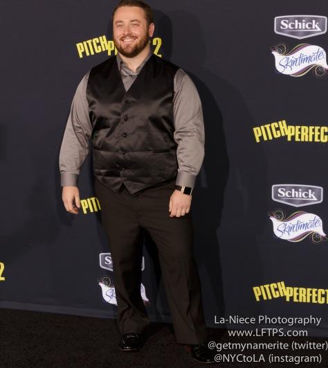 Joe P harris AT PITCH PERFECT 2 MOVIE PREMIERE- LOS ANGELES