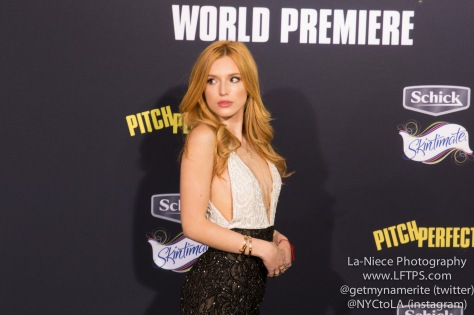 Bella Thorne AT PITCH PERFECT 2 MOVIE PREMIERE- LOS ANGELES