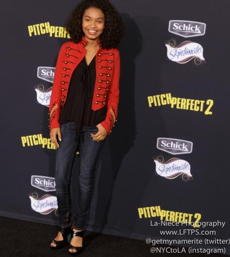Yara Shahidi AT PITCH PERFECT 2 MOVIE PREMIERE- LOS ANGELES
