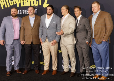Green Bay Packers AT PITCH PERFECT 2 MOVIE PREMIERE- LOS ANGELES