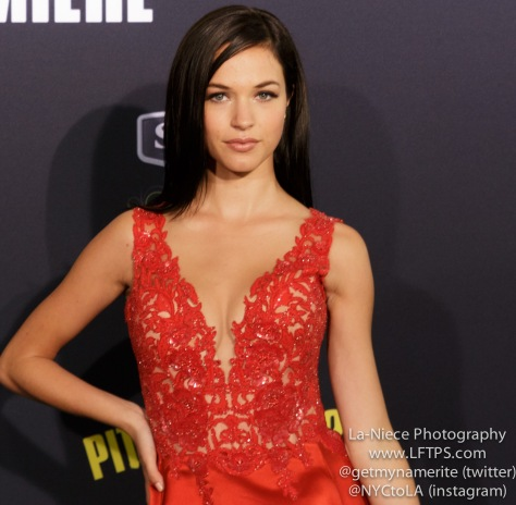 Alexis Knapp AT PITCH PERFECT 2 LOS ANGELES MOVIE PREMIERE