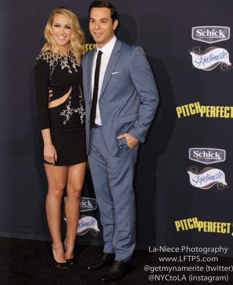 Anna Camp, Skylar Astin AT PITCH PERFECT 2 LOS ANGELES MOVIE PREMIERE