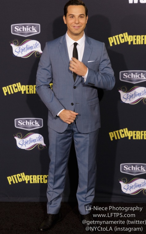 Skylar Astin AT PITCH PERFECT 2 LOS ANGELES MOVIE PREMIERE