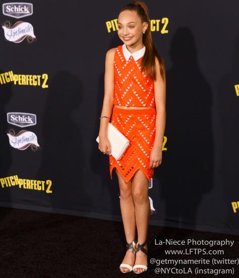 Maddie Ziegler AT PITCH PERFECT 2 LOS ANGELES MOVIE PREMIERE
