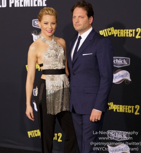 Elizabeth Banks, Max handelman AT PITCH PERFECT 2 LOS ANGELES MOVIE PREMIERE