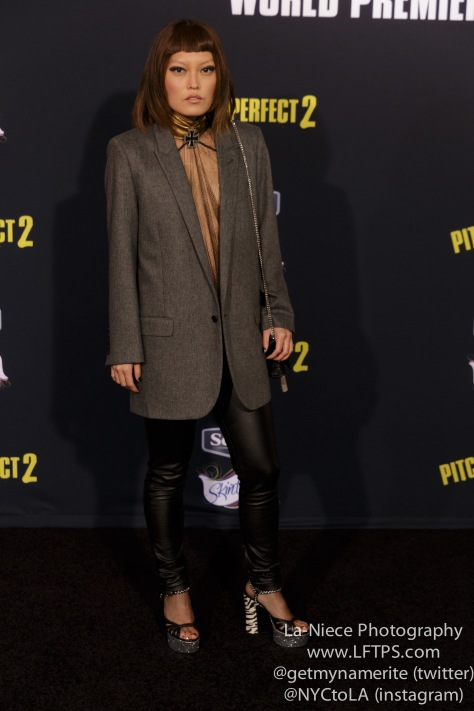 Hana Mae Lee AT PITCH PERFECT 2 LOS ANGELES MOVIE PREMIERE