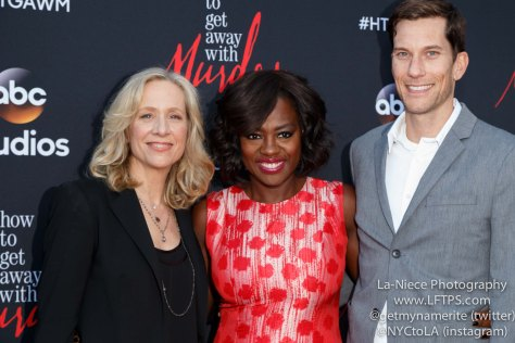 Betsy Beers,Viola Davis,Pete Nowalk attends the screening of How To Get Away With Murder ATAS