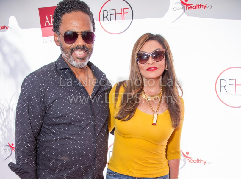 Richard Lawson and Tina Knowles-Lawson